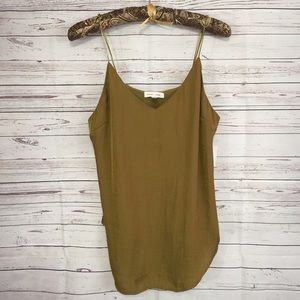 Silence + Noise Green Cami Tank Urban Outfitters M